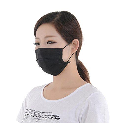 100Schwarz Outdoor Cechya nicht gewebt Dental Chirurgischer Face Maske Einweg Anti-Staub Grippe Medical Mund Masken Atemschutzmaske