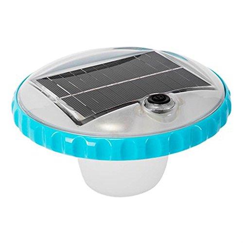 Intex - Luz LED flotante de carga solar para piscinas (28695)