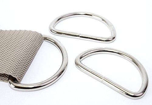 D-Ringe 5 Stück 50x25x5mm Halbrundringe Stahl/D50