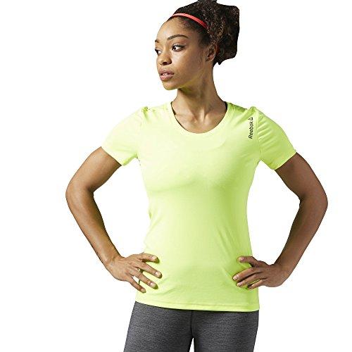 Reebok EL LOGO FULLZIP T-Shirt - M - Gelb - Damen (T-shirt Gelb Logo)