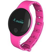 Bluetooth Smart Watch Sannysis pulsera deportivo pedometer tracker para Android iOS (rosa)