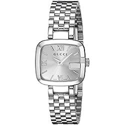 Gucci YA125517 - Reloj de cuarzo para mujer, con correa de acero inoxidable, color plateado