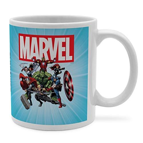 PhotoFancy Tasse Marvel mit Namen personalisiert - Design Avengers