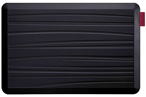 NUVA Kitchen Antislip Anti-fatigue Mats Antimicrobial >99.9%, Non-toxic Odor, Water Resistant, 30x20x0.75 inch., Various sizes & colors, Commercial Grade:10 years Warranty(Black, Beach Pattern) by Nuva