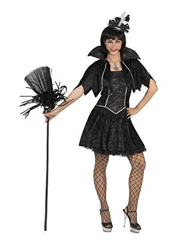 Confettery - Damen Frauen Kostüm, Corsagenkleid Spinnen-Netz Hexe -