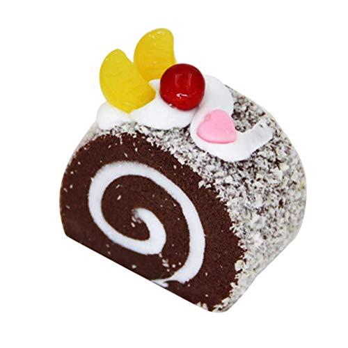 (Vosarea Künstliche Kuchen Spielzeug Realistisch Torten Modell Fotorequisiten für Kinder Küche Halloween Party Dekoration (Kaffee))