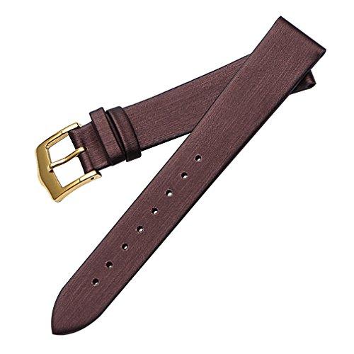 Superqualität Satin Korn Ersatzuhrenarmband-Bügel lila 18mm für Männer echtes Leder, matt