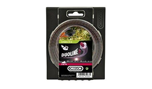 Oregon Duoline PLUS LOW NOISE Trimmer Line für über gewachsen Gras und Unkraut, 518777