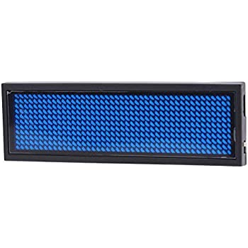 ROSSO Nome del LED Badge 110-240V ROSSO LED Scrolling Sign//Name Badge//Message Tag Display Board