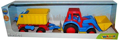 Wader 37657 Basics Traktor mit Schaufel mit Hänger (im Schaukarton)