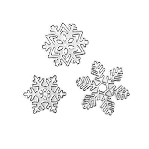 Nankod 1 Set Weihnachten Schneeflocke Stanzschablone Scrapbooking Prägung Papier Karte Home Decor