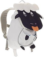 Affenzahn Kinderrucksack mit Brustgurt für 1-3 jährige Jungen und Mädchen im Kindergarten oder Kita der kleine Freund Annemarie - weiß, schwarz