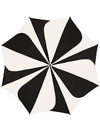 Pierre Cardin Paragua plegable, negro blanco (multicolor) - 82268