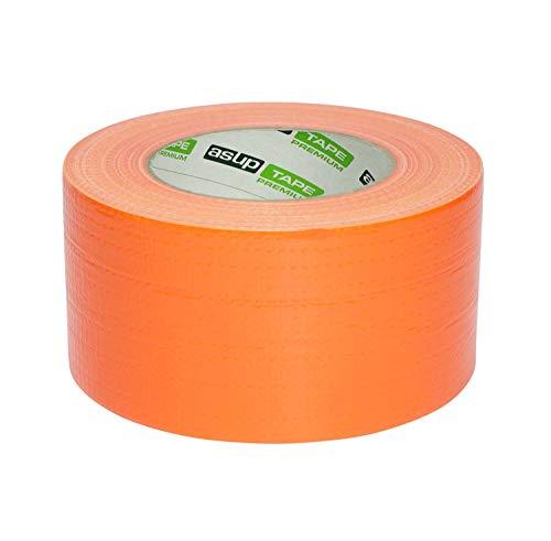 72 mm x 50 m - Gewebeklebeband | Reparaturband | Panzerband | orange| für Innen- und Außenanwendung | für glatte und raue Oberflächen | von Hand reißbar | feuchtigkeitsbeständig ()