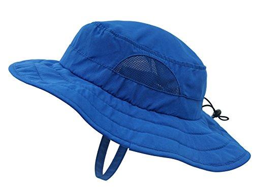 50+ Eimer Sonnenhut UV Sonnenschutz Hüte Klettbänder Spiel Hut - Blau (Kinder-eimer Hüte)