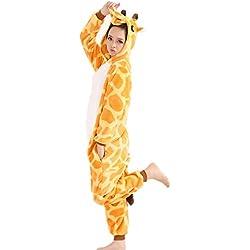 Pyjama Jysport en polaire unisexe à capuche - Pour femme, homme et enfant moyen girafe