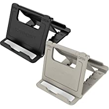 Phone Stand Portable iPhone Stand, Adjustable Multi-Angle Mobile Cell Phone Stand Holder,Tonyhoney 2 Pack Foldable Pocket Desktop Holder Stand for iPhone X/8/8 Plus/7/7 Plus/6,iPad,E-reader,Tablet (Grey)