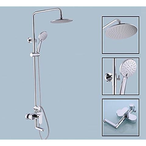 SUN-3-Configuración de baño de latón sólido ducha de lujo mezclador ducha ducha sin plomo baño sistema de ducha, cromo
