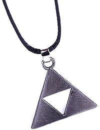Collar collar de cadena colgante collar joyas símbolo The Legend of Zelda Collar Sign Diseño Joyas novedad gris plata