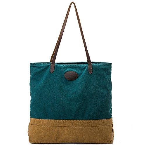 Asdflina Mode Leisure Retro Große Kapazität Strandtasche Hit Farbe Taschen Canvas Handtasche Geeignet für den täglichen Gebrauch