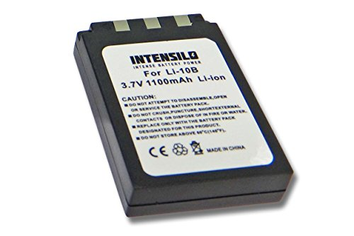 INTENSILO Li-Ion Akku 1100mAh (3.7V) für Kamera Camcorder Video Olympus Camedia C-760 Ultrazoom, C-765 Ultrazoom wie Li-10B, Li-12B, DB-L10.