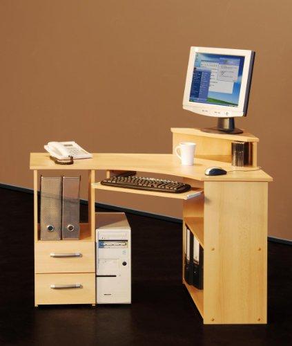 115cm - Eck-Schreibtisch - Computertisch, in buche Möbeldesign Team 2000 - 4505-