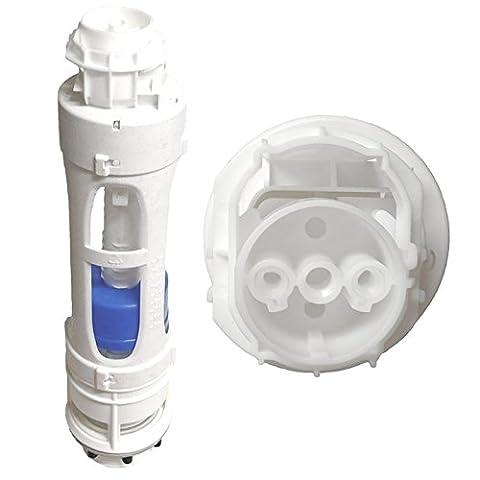 Roca 822023800D2D Nouveau Style Double Chasse d'Eau WC valve–Multicolore
