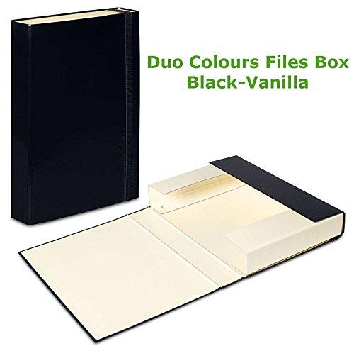 5x Nero, Vaniglia fascia elastica scatola portadocumenti A4cartella File carta