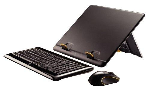 Logitech Notebook Kit MK605 Halterung, Tastatur und Maus schnurlos (deutsches Tastaturlayout, QWERTZ) Logitech Tastatur Für Laptop