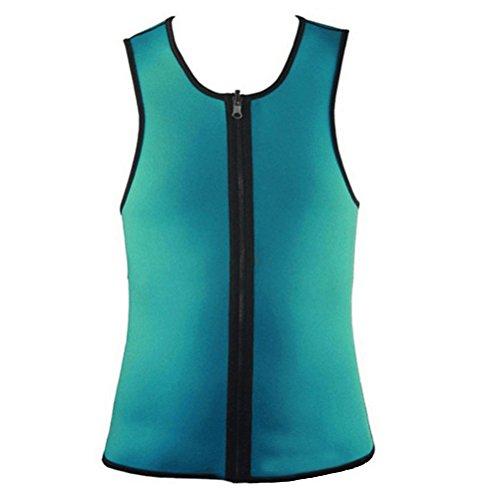 14ec0e64a6 VORCOOL Men Waist Trainer Vest Zipper Sauna Tank Top Neoprene Body Shaper  Slimming Vest Sweat Suit