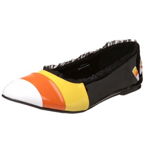 FUNTASMA CAND12/B Ballerines Femmes Noir/Orange Blk-Yellow-Orange-Wht Pat