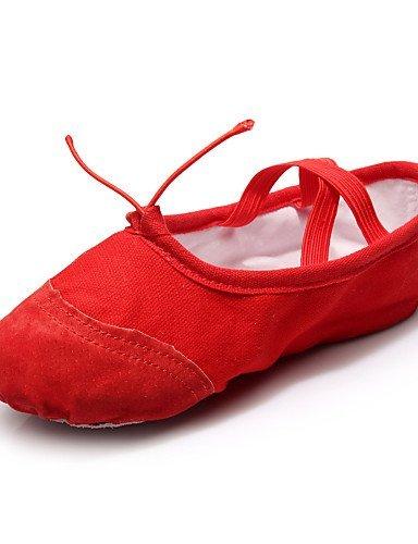ShangYi Chaussures de danse ( Noir / Rouge / Blanc / Autre ) - Personnalisables - Talon Plat - Cuir / Toile / Paillette - Ballet