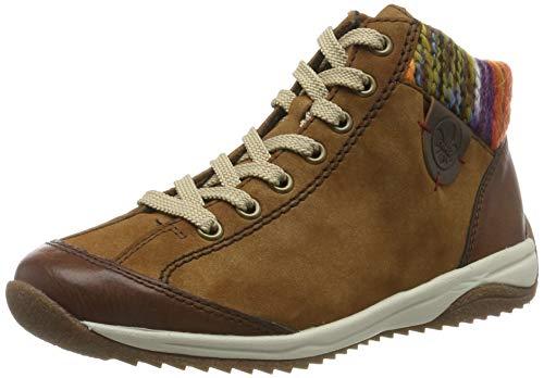 Rieker Damen L5231 Hohe Sneaker, Braun (Brown/REH/Kastanie/Orange-Multi 22), 40 EU