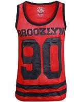 Mens Soul Star Mesh Number Printed Baseball Top Muscle Summer Sports Vest