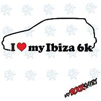 2 x i love my Seat Ibiza 6 K, aprox. 15 x 5 cm.