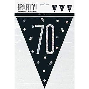 Unique Party- Bandera, Color black & silver (83430)