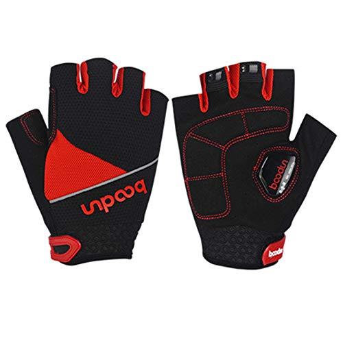 Gnzoe Fahrradhandschuhe Handschuhe Outdoor Sport Winterhandschuhe Mittel Rot
