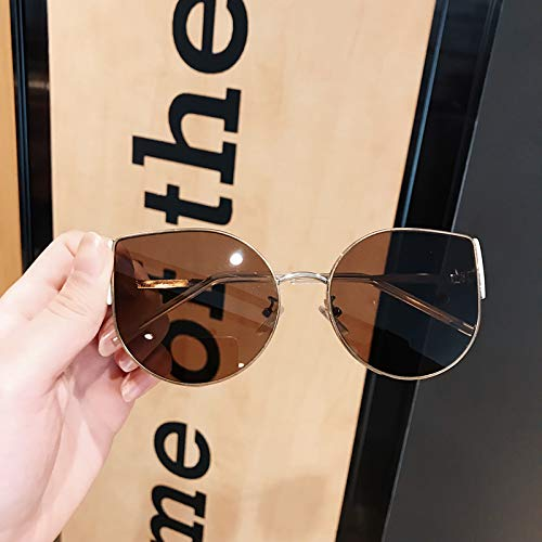 CFLFDC Sonnenbrillen Katzenauge Sonnenbrille Dame Polarisierte Sonnenbrille Sternbrille 100% Uv-schutz Durchsichtienter Tee