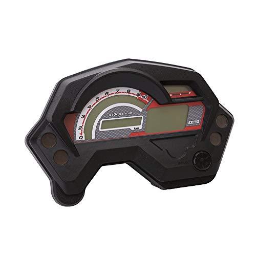 CONRAL 12V Motorrad Instrumentenblöcke Tachometer Geschwindigkeitsmesser, Motorrad Digital Bunte LCD Kilometerzähler Integrierter Drehzahlmesser Getriebe, für Yamaha, Honda, BMW, Suzuki, Kawasaki