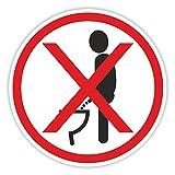 iSecur Toiletten-Aufkleber Bitte im Sitzen pinkeln Ø 5 cm I WC-Deckel-Aufkleber I Sticker mit Piktogramm für Badezimmer Klodeckel Gäste-WC Wand I hin_299