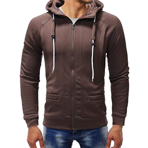 CICIYONER Tops für Männer, Herren Lange Ärmel Herbst Winter Beiläufig Sweatshirt Hoodies Oben Bluse Trainingsanzüge