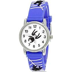 Pure Time Santa/Blue Spider Children's Watch-Childrens Silicone Watch White With Watch Box