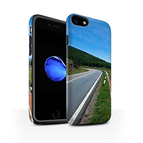 STUFF4 Matte Harten Stoßfest Hülle / Case für Apple iPhone 8 / Gebirge/Loch Muster / Schottisch Landschaft Kollektion Straße