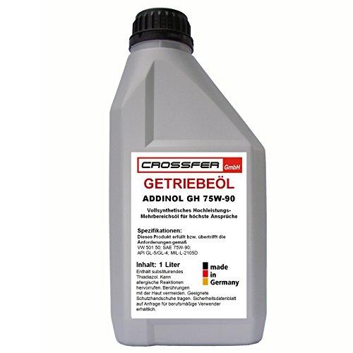 1 Liter Flasche ADDINOL Getriebeöl GH 75W-90 Hochleistungsgetriebeöl auf der Basis vollsynthetischer Grundöle