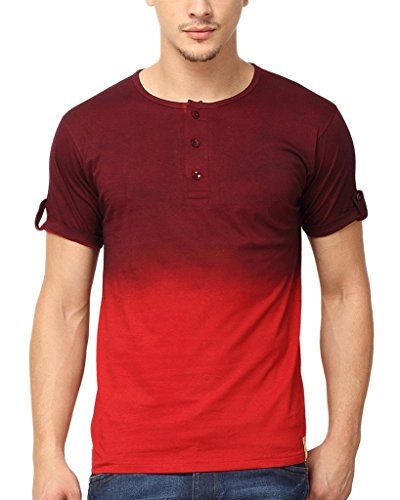 10. Campus Sutra Men Henley T-Shirt