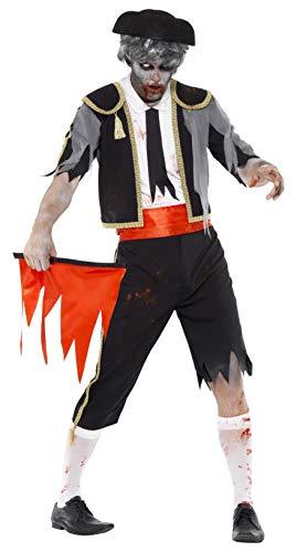 Smiffys, Herren Zombie-Matador Kostüm, Jackett, Hose, Kummerbund, Hut und Rotes Tuch, Größe: M, 44368