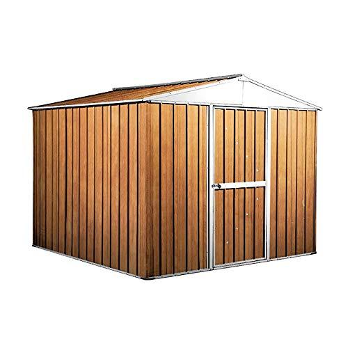 enaudi Casetta Box da Giardino in Lamiera Legno per Deposito Attrezzi 276x260x212cm