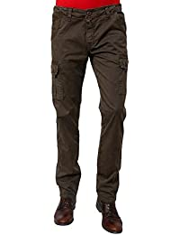 Wear Your Mind Green Solid Cargo Pant For Men WTR010.4