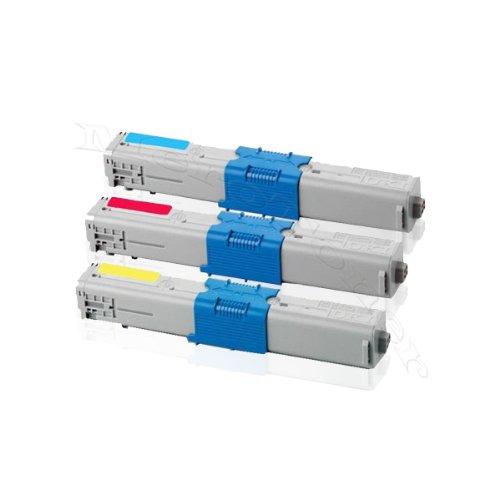 Preisvergleich Produktbild 3er Color Pack - XXL Toner Patrone Kompatibel zu Oki C 310 ,  C310 DN ,  C 330 ,  C330DN ,  C 331 ,  C331DN ,  C 510,  C510DN ,  C 511 ,  C511DN ,  C 530 ,  C530DN ,  C 531 ,  C531DN MC 351DN MC352DN MC 361DN MC362DN MC 561DN MC 562DN Oki (43865706 43865705 43865704) (C / Y / M)