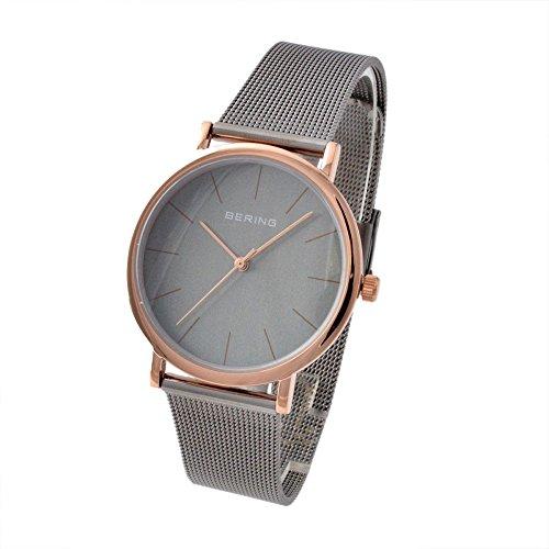 Bering Unisex Classic Grey Mesh Watch 13436-369